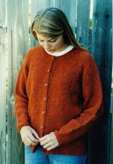 Knitting Pure and Simple Women's Cardigan Patterns - 9725 - Neckdown Cardigan for Women Pattern