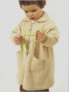 Debbie Bliss Baby Cashmerino Smock Coat Kit - Baby and Kids Cardigans