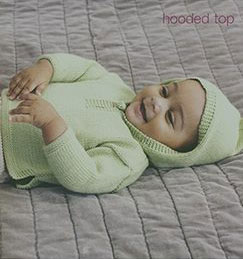 Debbie Bliss Baby Cashmerino Hooded Top Kit - Baby and Kids Pullovers