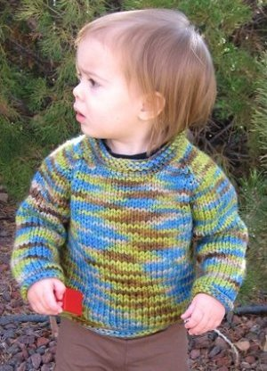 Knitting Pure and Simple Baby & Children Patterns - 0295 - Bulky Baby Pullover Pattern