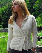 Vermont Organic Fiber Co. O-Wool Patterns - 8 - Cozy Wrapped Cardigan Pattern