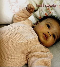 Debbie Bliss Baby Cashmerino Heart Sweater Kit - Baby and Kids Pullovers