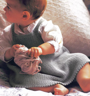 Debbie Bliss Baby Cashmerino Pinafore Dress Kit - Baby and Kids Pullovers