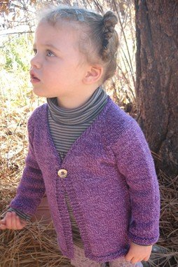 Knitting Pure and Simple Baby & Children Patterns - 0296 - Girl's One Button Cardigan Pattern