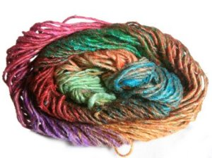 Noro Silk Garden Yarn - 258 Lime,Pink,Red (Discontinued)
