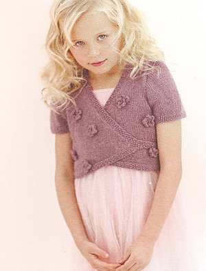 Sublime Angora Merino Posy Cardigan Kit - Baby and Kids Cardigans