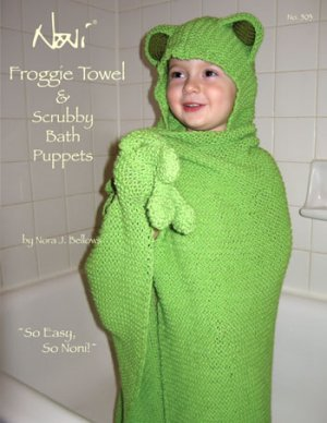 Noni Patterns - Froggie Towel & Scrubby Pattern