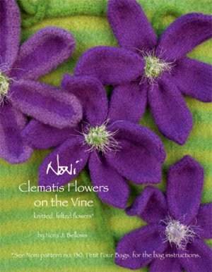 Noni Patterns - Clematis Flowers on the Vine Pattern