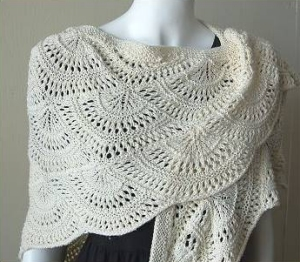 CPY Panda Silk DK Fan Shawl Kit - Scarf and Shawls
