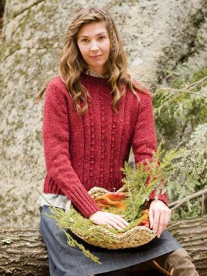 Berroco Blackstone Tweed Nectarine Kit - Women's Pullovers