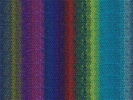 Noro Kureyon Yarn - z253 Turquoise/Royal/Red/Pink (Discontinued)