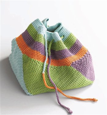 Rowan Cotton Glace Swirling Bag Kit - Crochet for Adults
