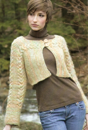 Nashua Champlain Cropped Side to Side Cardigan Kit - Women's Cardigans