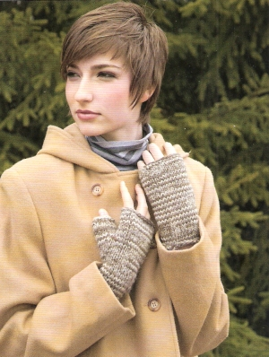 Nashua Champlain Fingerless Gloves Kit - Hats and Gloves