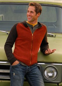 Blue Sky Alpacas Adult Clothing Patterns - Men's Zip Cardigan Pattern