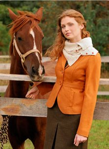Blue Sky Fibers Adult Clothing Patterns - zButton Up Cowl Pattern