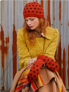 Blue Sky Fibers Adult Clothing Patterns - Polka Dot Hat Set Pattern