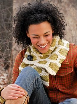 Spud & Chloe Patterns - Bumble Up Scarf Pattern