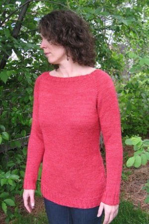 Knitting Pure and Simple Women's Sweater Patterns - 2911 - Neckdown Boat Neck Pullover Pattern