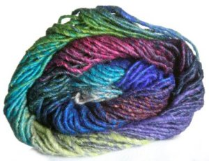 Noro Silk Garden Yarn - z273 Blue, Olive, Magenta (Discontinued)