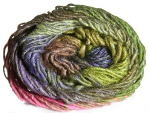 Noro Silk Garden Yarn - z276 Lime, Brown, Purple, Turquoise (Discontinued)