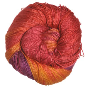 Hand Maiden Sea Silk Yarn - Sangria