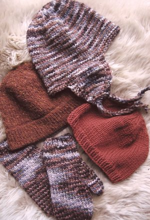 Knitting Pure and Simple Hat and Mitten Patterns - 297 Bulky Hat and Mitten Set Pattern