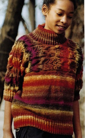 Noro Kureyon Cable and Lace Sweater Kit - Women's Pullovers