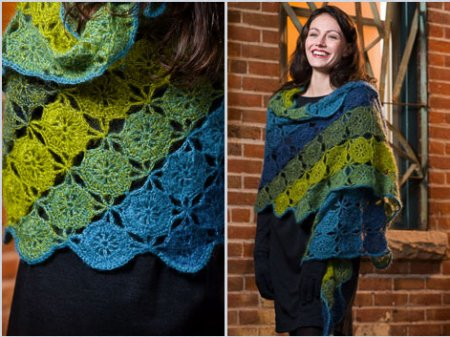Rowan Kidsilk Haze Katrina Shawl Kit - Crochet for Adults