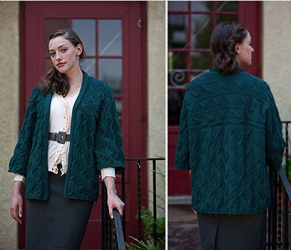 Trendsetter Yarns Merino VIII Wave and Dimple Kimono Kit - Women's Cardigans