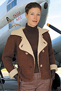 Dovetail Designs Knitting and Crochet Patterns - Bomber Jacket to Knit Pattern