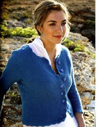 Debbie Bliss Cashmerino Aran Crochet Edged Jacket Kit - Women's Cardigans