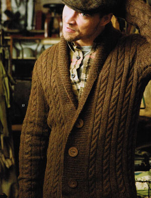 Rowan Lima Man's Cable Cardigan Kit - Mens Cardigans