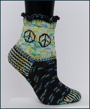 Crystal Palace Panda Superwash Peace Sock Make Socks Not War Kit - Socks