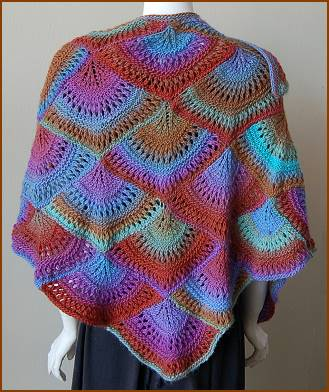 Crystal Palace Mochi Plus Fan Shawl Kit - Scarf and Shawls