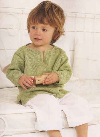 Debbie Bliss Eco Baby Kaftan Kit - Baby and Kids Pullovers