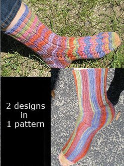 Knit One, Crochet Too Patterns - Friendship Socks Pattern