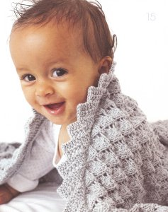 Debbie Bliss Eco Baby Lacy Shawl Kit - Baby and Kids Accessories