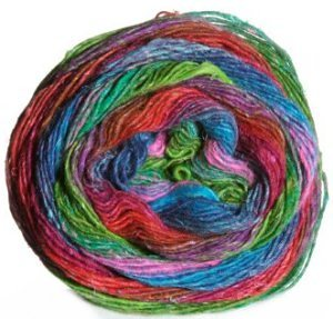 Noro Silk Garden Sock Yarn - 304 Hot Pink, Turquoise, Lime