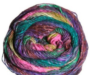 Noro Silk Garden Sock Yarn - 308 Hot Pink/Green/Olive