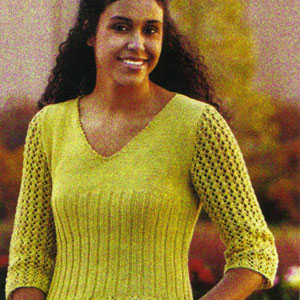 Tahki Cotton Classic Breezy V-Neck Pullover Kit - Women's Pullovers