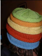 2 Knit Wits Patterns - Multiple Rolls Beanie Pattern