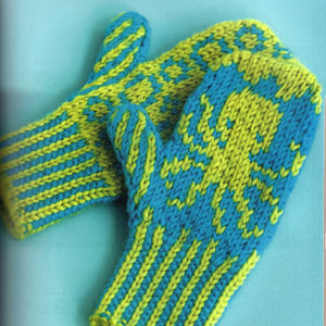 Cascade 220 Superwash Octopus Mittens Kit - Baby and Kids Accessories
