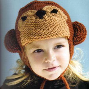 Cascade 220 Superwash Monkey Hat Kit - Baby and Kids Accessories