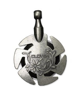 Clover Yarn Cutter Pendant - Antique Silver (3106)