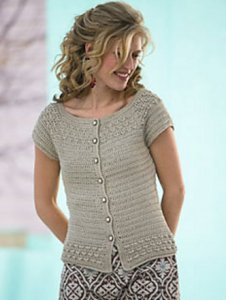 Blue Sky Alpacas Alpaca Silk Kristy Cardigan Kit - Crochet for Adults