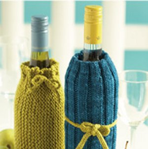Manos del Uruguay Silk Blend Wine Bottle Covers Kit - Home Accessories