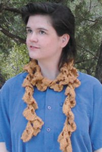 Classic Elite Soft Linen Crochet Ruffle Scarf Kit - Crochet for Adults
