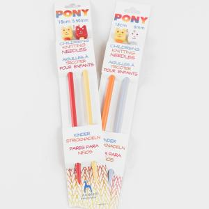 "Pony Children's Knitting Needles - US 6 - 7"" Needles"