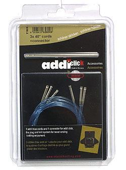 "Addi Click Cords Needles - Booster Pack - 3 40"" Cords Needles"